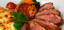 Duck Breast with mac toum